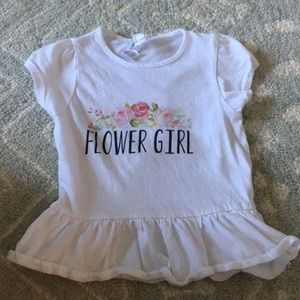 2T flower girl top.